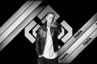 Eminem Black And White - Obrázkek zdarma pro 220x176