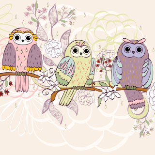 Owls Texture - Obrázkek zdarma pro 128x128