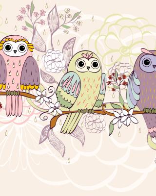 Owls Texture - Obrázkek zdarma pro iPhone 6 Plus