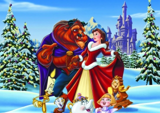 Belles Christmas Disney Wallpaper for Android, iPhone and iPad