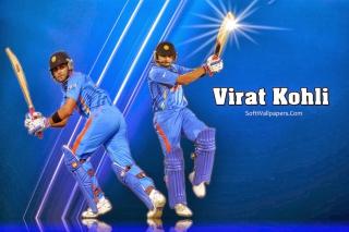 Virat Kohli and MS Dhoni - Obrázkek zdarma pro Nokia XL