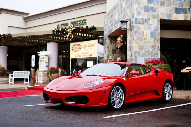 Ferrari F430 in City wallpaper