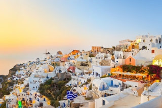 Santorini Greece Background for Android, iPhone and iPad