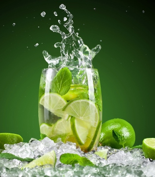 Glass With Lime - Obrázkek zdarma pro 480x854