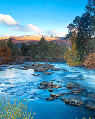 Landscape of mountain river - Obrázkek zdarma pro Nokia X2