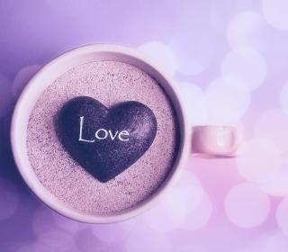 Love Heart In Coffee Cup - Obrázkek zdarma pro iPad 2