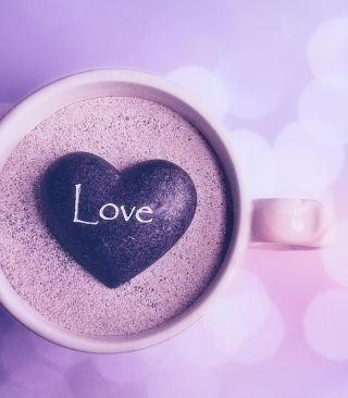 Love Heart In Coffee Cup - Obrázkek zdarma pro Nokia C1-01