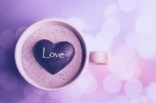 Love Heart In Coffee Cup Wallpaper for Android, iPhone and iPad