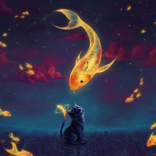 Cats Fantasy - Obrázkek zdarma pro iPad Air