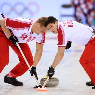 Russian curling team - Obrázkek zdarma pro 320x320