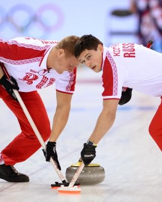 Russian curling team - Obrázkek zdarma pro Nokia C3-01 Gold Edition