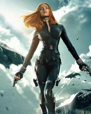 Captain America The Winter Soldier - Black Widow - Obrázkek zdarma pro 352x416