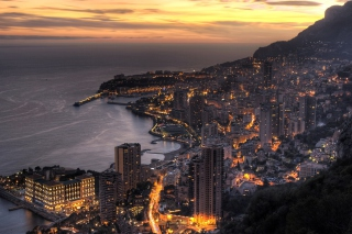 Monaco In Twilight Wallpaper for Android, iPhone and iPad