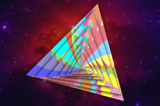 Free Colorful Triangle Picture for Android, iPhone and iPad