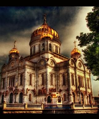 Orthodoxal Chruch of The Christ The Saviour Moscow - Obrázkek zdarma pro 240x400