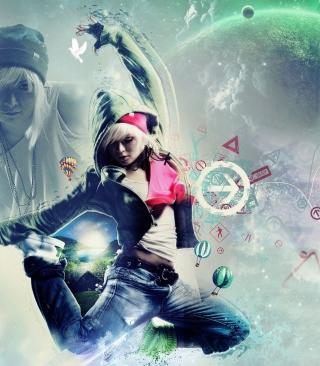 Girl Dancer - Obrázkek zdarma pro Nokia Asha 300
