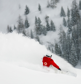Winter Olympics Snowboarder - Obrázkek zdarma pro iPad mini