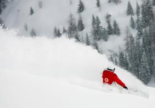 Winter Olympics Snowboarder - Obrázkek zdarma pro Fullscreen 1152x864