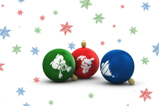 Christmas Balls Wallpaper for Android, iPhone and iPad