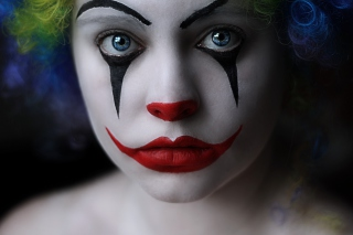 Sad Eyes Of Clown Background for Android, iPhone and iPad