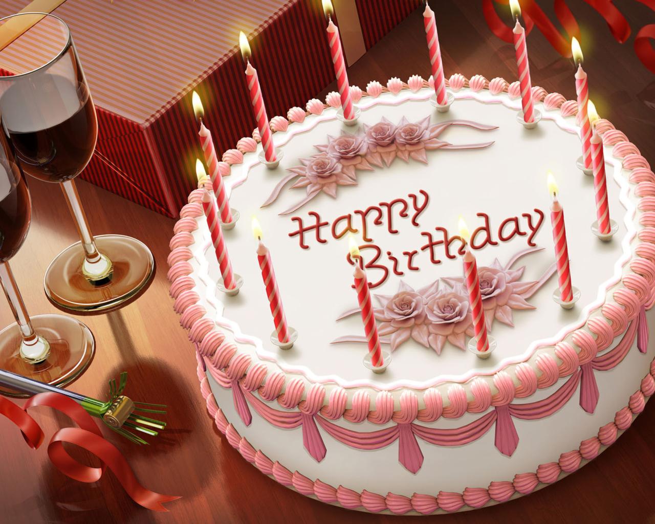 Открытки днем рождения торты