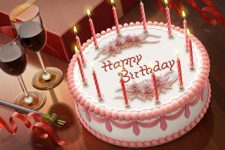 Happy Birthday Cake - Obrázkek zdarma pro Nokia Asha 205
