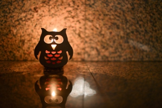Owl Candle Background for Android, iPhone and iPad