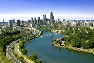 Philadelphia City in Pennsylvania Background for Android, iPhone and iPad