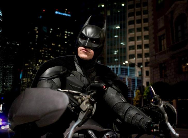 Batman on Batpod wallpaper