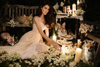 Fox Princess Wallpaper for Android, iPhone and iPad