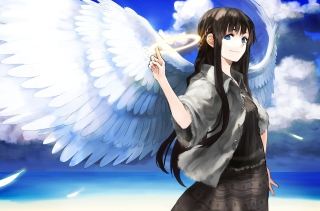 Anime Angel Background for Android, iPhone and iPad
