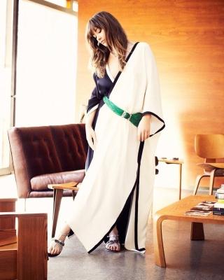Olivia Wilde in Kimono - Obrázkek zdarma pro Nokia Asha 202