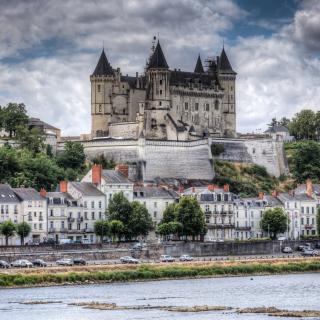 Saumur Castle on Loire - Obrázkek zdarma pro 320x320