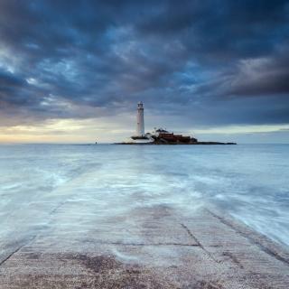 Lighthouse in coastal zone - Obrázkek zdarma pro 128x128