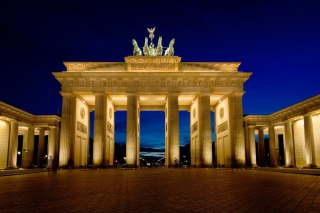 Brandenburg Gate Berlin Background for Android, iPhone and iPad