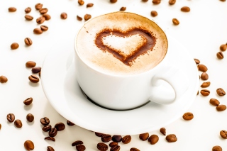 Cappuccino Heart Wallpaper for Android, iPhone and iPad
