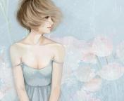 Screenshot №1 pro téma Pastel Tones Drawing Of Girl 176x144