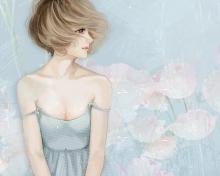 Screenshot №1 pro téma Pastel Tones Drawing Of Girl 220x176