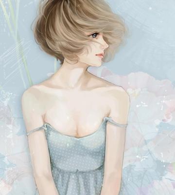 Screenshot №1 pro téma Pastel Tones Drawing Of Girl 360x400