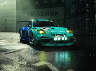 Falken Porsche 911 G Background for Android, iPhone and iPad
