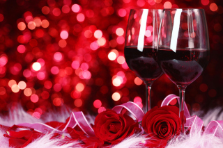 Romantic Way to Celebrate Valentines Day Background for Android, iPhone and iPad