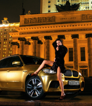 Need For Speed Most Wanted - Golden Bmw X5 - Obrázkek zdarma pro Nokia C6-01