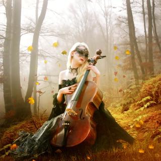 Fairy Woman in Forest - Obrázkek zdarma pro iPad