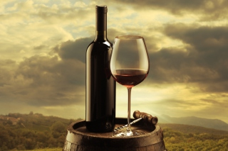 Red Wine And Wine Glass Picture for Android, iPhone and iPad