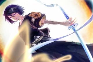 Bleach Kuchiki Rukia - Obrázkek zdarma pro 480x320