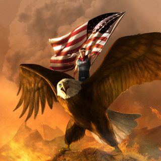 USA President on Eagle - Obrázkek zdarma pro 1024x1024