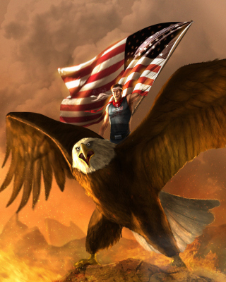 USA President on Eagle - Obrázkek zdarma pro Nokia Lumia 900
