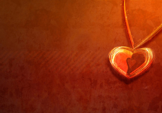 Heart Necklace Background for Android, iPhone and iPad