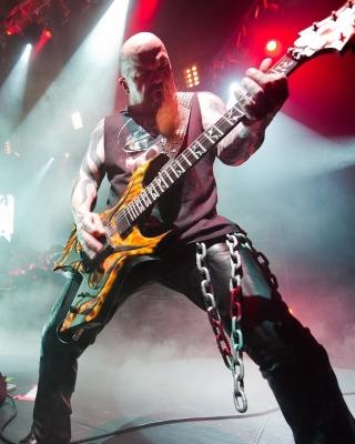 Slayer American thrash metal band - Obrázkek zdarma pro iPhone 4