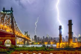 Storm in New York - Obrázkek zdarma pro 1600x1280